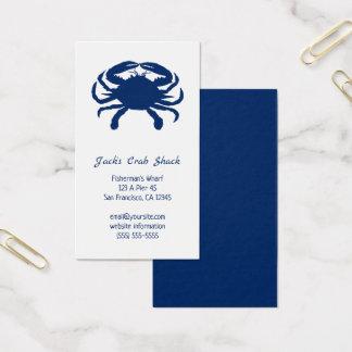 Cartão De Visitas Restaurante do marisco da silhueta do caranguejo
