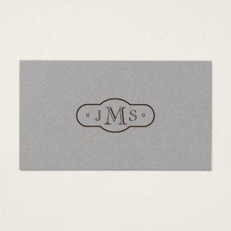 Cartão De Visitas Retro elegante Monogrammed da pia batismal de