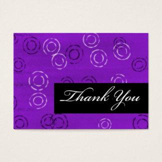 Cartão De Visitas Retro Você-violeta do obrigado