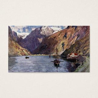 Cartão De Visitas Rio e montanhas noruegueses