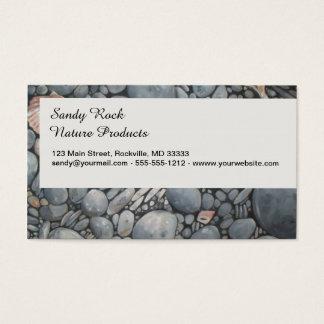 Cartão De Visitas Rochas dos seixos da praia das pedras