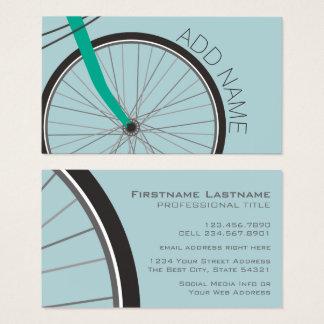 Cartão De Visitas Roda de bicicleta do hipster com nome feito sob