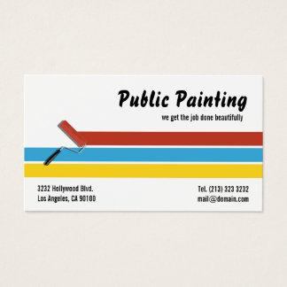 Cartão De Visitas Rolo de pintura do pintor