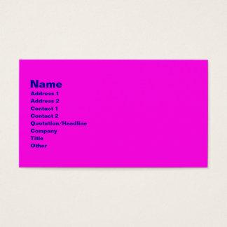 Cartão De Visitas rosa brilhante