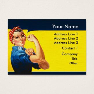 Cartão De Visitas Rosie a mulher de funcionamento do esforço da