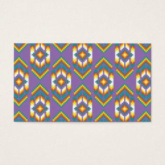 Cartão De Visitas Roxo do design do nativo americano