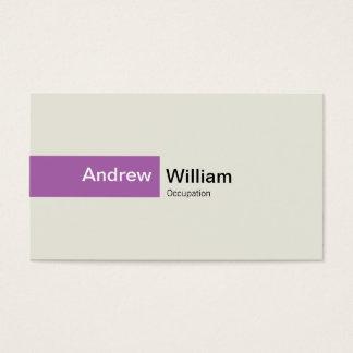 Cartão De Visitas Roxo elegante