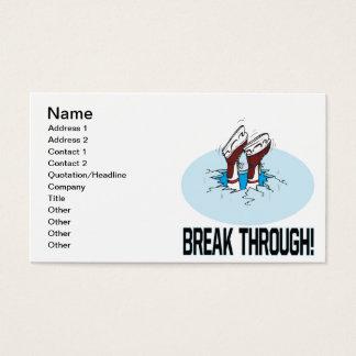 Cartão De Visitas Ruptura completamente