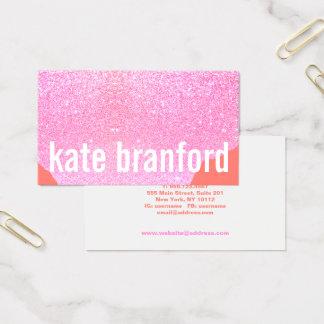Cartão De Visitas Salão de beleza cor-de-rosa abstrato corajoso