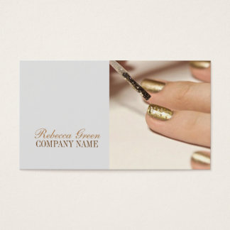 Cartão De Visitas salão de beleza feminino do prego do artista do