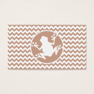 Cartão De Visitas Sapo; Brown Chevron