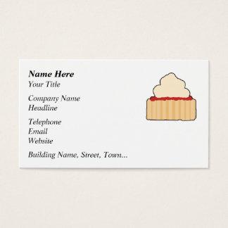 Cartão De Visitas Scone. do doce e do creme