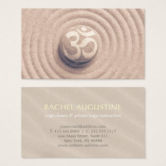 Cartão De Visitas Seixo do símbolo de OM do zen do instrutor da IOGA