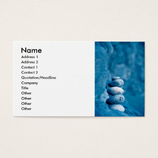 Cartão De Visitas Seixos empilhados