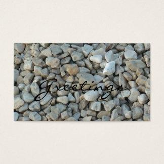 Cartão De Visitas Seixos na fotografia da pedra da praia