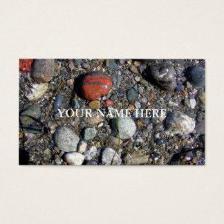 Cartão De Visitas Seixos na maré alta