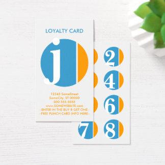 Cartão De Visitas selo da lealdade do esmagamento da cor