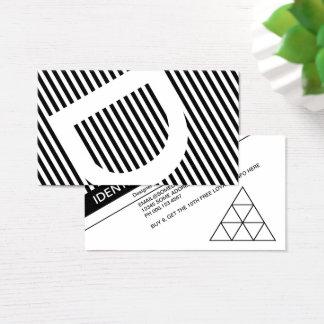 Cartão De Visitas selo diagonal da lealdade das cortinas