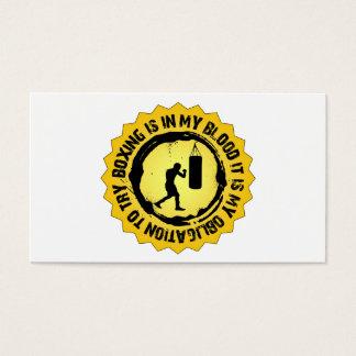 Cartão De Visitas Selo fantástico do encaixotamento