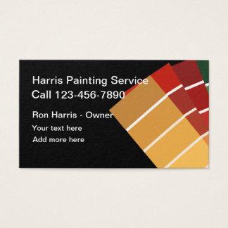 Cartão De Visitas Serviços simples do pintor