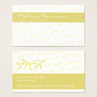 Cartão De Visitas seu limão profissional moderno atrativo - amarelo