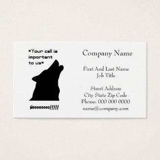 Cartão De Visitas Silhueta da chamada de lobo