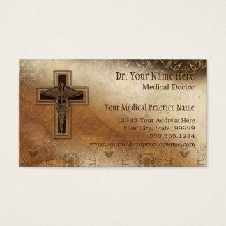 Cartão De Visitas Símbolo do cristão do médico prática do médico