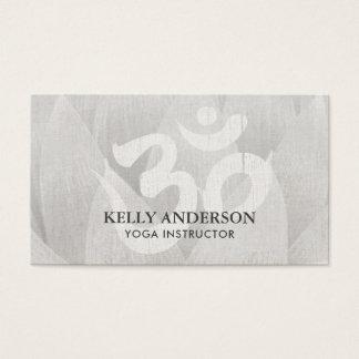 Cartão De Visitas Símbolo Lotus do OM da mediação do instrutor da