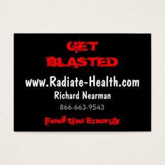 Cartão De Visitas Sinta a energia, www.Radiate-Health.com, Richar…