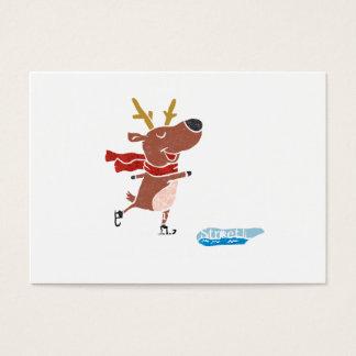 Cartão De Visitas Skate de gelo da rena