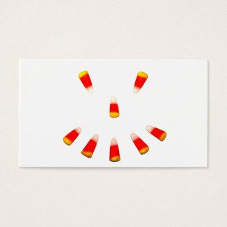 Cartão De Visitas Sorrir forçadamente do milho de doces do Dia das