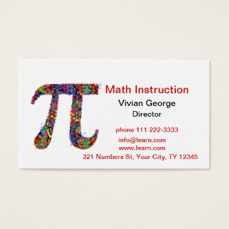 Cartão De Visitas Splatter da pintura da ação do símbolo do Pi