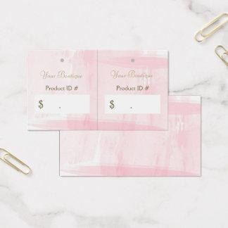 Cartão De Visitas Tag cor-de-rosa chiques simples do cair das vendas