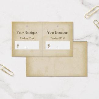 Cartão De Visitas Tag modernos do cair do boutique do Grunge simples