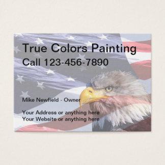 Cartão De Visitas Tema da americana do pintor