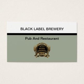 Cartão De Visitas Tema da cervejaria e do restaurante