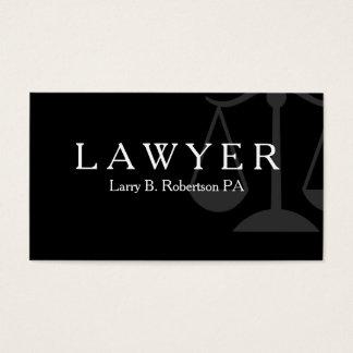 Cartão De Visitas Tema poderoso do advogado
