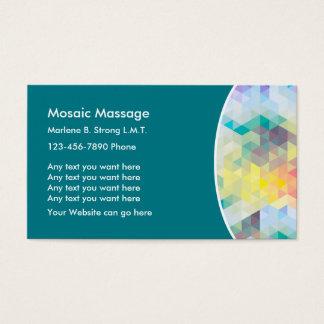 Cartão De Visitas Terapia moderna da massagem