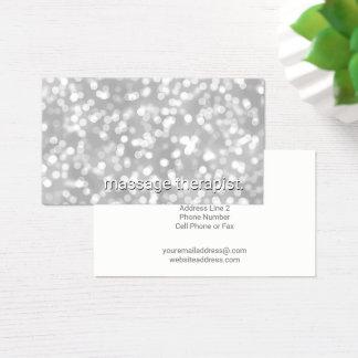 Cartão De Visitas Termas de prata do terapeuta da massagem do