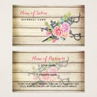 Cartão De Visitas Tesouras de madeira encantadores e referência do