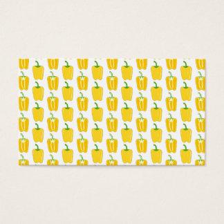 Cartão De Visitas Teste padrão amarelo das pimentas