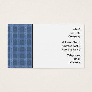 Cartão De Visitas Teste padrão azul escuro da verificação