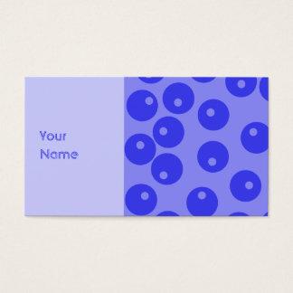 Cartão De Visitas Teste padrão azul retro. Projeto dos círculos