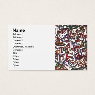 Cartão De Visitas Teste padrão colorido geométrico do Doodle do