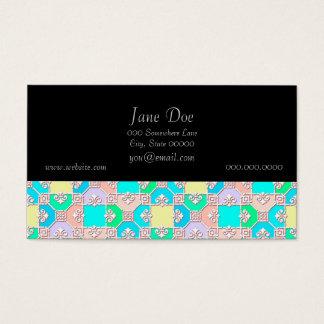 Cartão De Visitas Teste padrão colorido Pastel doce