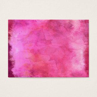 Cartão De Visitas Teste padrão cor-de-rosa da textura da aguarela do