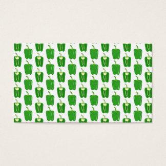 Cartão De Visitas Teste padrão das pimentas verdes