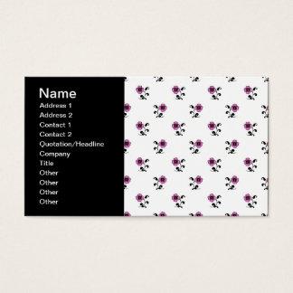 Cartão De Visitas Teste padrão de flores cor-de-rosa doce