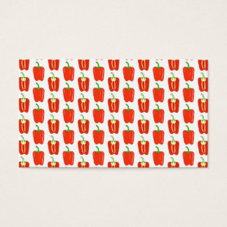 Cartão De Visitas Teste padrão de pimentas vermelhas