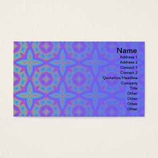 Cartão De Visitas Teste padrão floral colorido pequeno